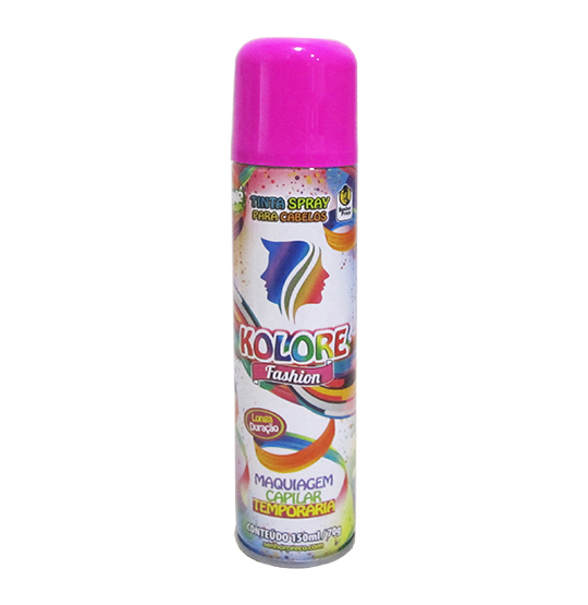 TINTA/PO SPRAY KOLORE FASHION PINK/ROSA 150ML 70GR