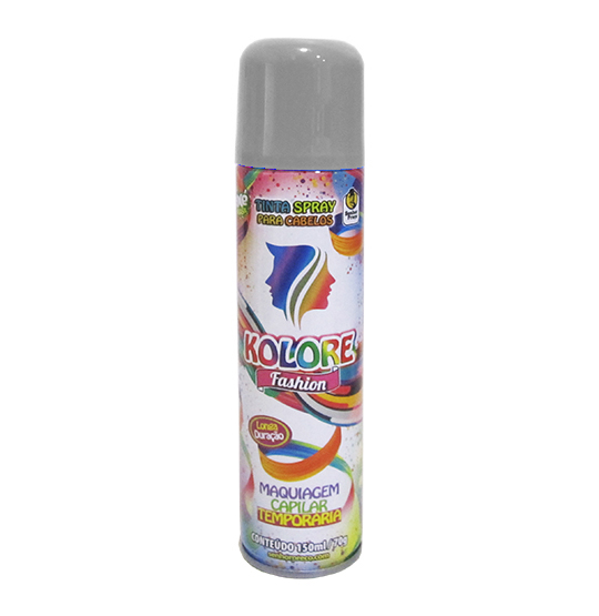 TINTA/PO SPRAY KOLORE FASHION PRATA 150ML 70G