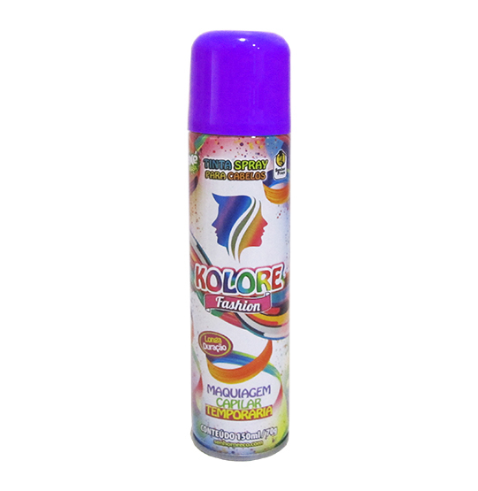 TINTA/PO SPRAY KOLORE FASHION ROXA/LILAS 150ML 70G