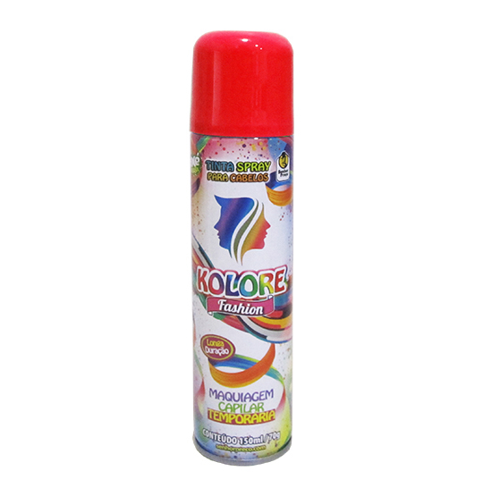 TINTA/PO SPRAY KOLORE FASHION VERMELHA 150ML 70G