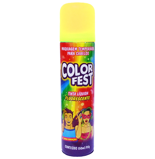TINTA LIQUIDA COLOR FEST AMARELA FLOURESCENTE 150ML 85G