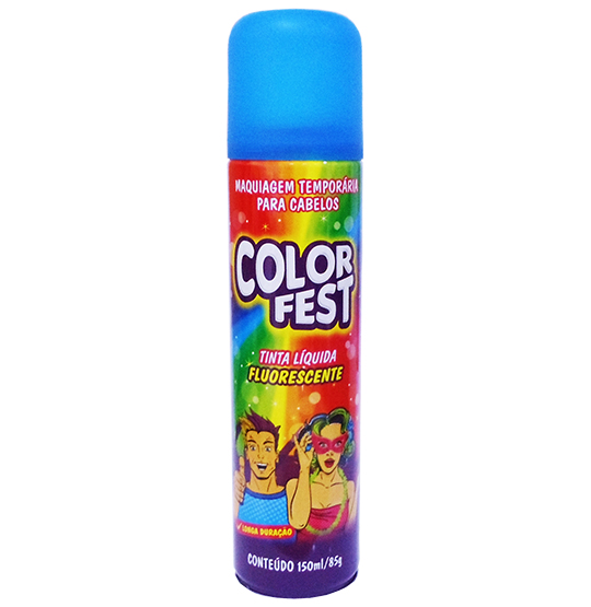 TINTA LIQUIDA COLOR FEST AZUL 150ML 85G