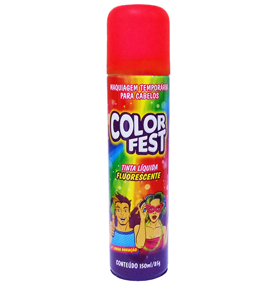 TINTA LIQUIDA COLOR FEST VERMELHA 150ML 85G