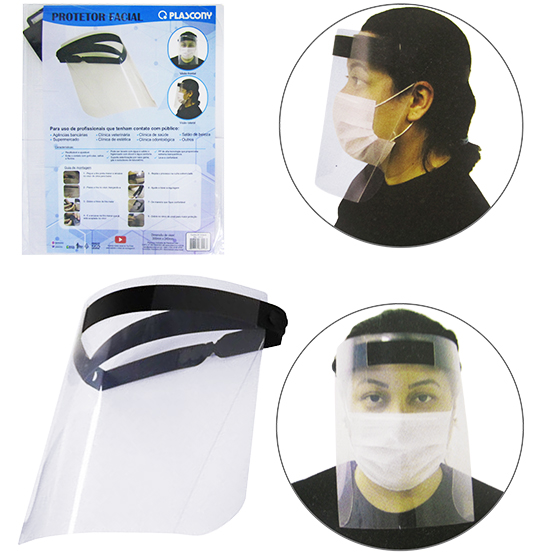 MASCARA / PROTETOR FACIAL / FACE SHIELD 300X240MM