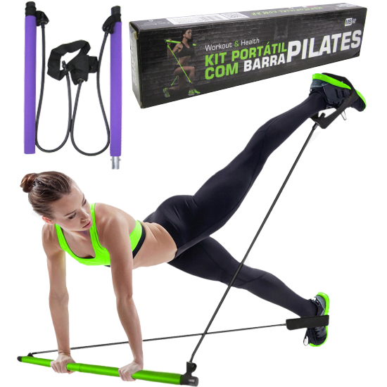 BARRA PARA EXERCICIOS PILATES COLORS 91CM