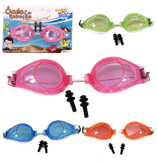 OCULOS DE NATACAO COLORS COM PROTETOR SUMMER FUN