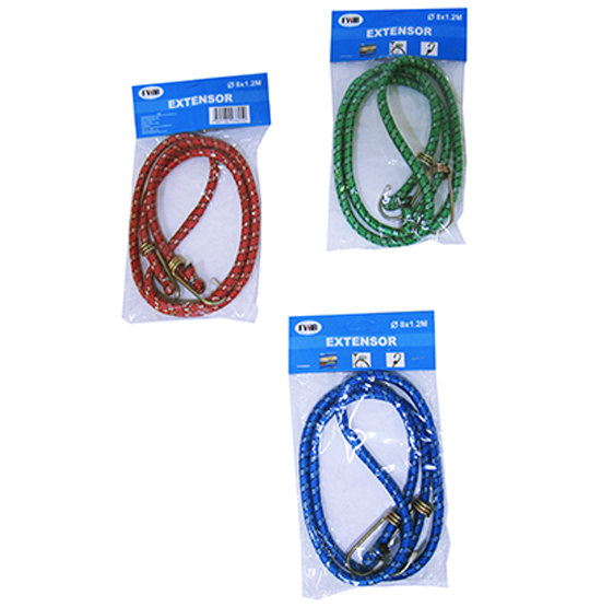 ELASTICO / EXTENSOR MULTIUSO 1,2M COLORS