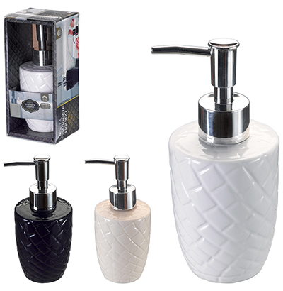 PORTA SABONETE LIQUIDO/DISPENSER DE PORCELANA 200ML COLORS