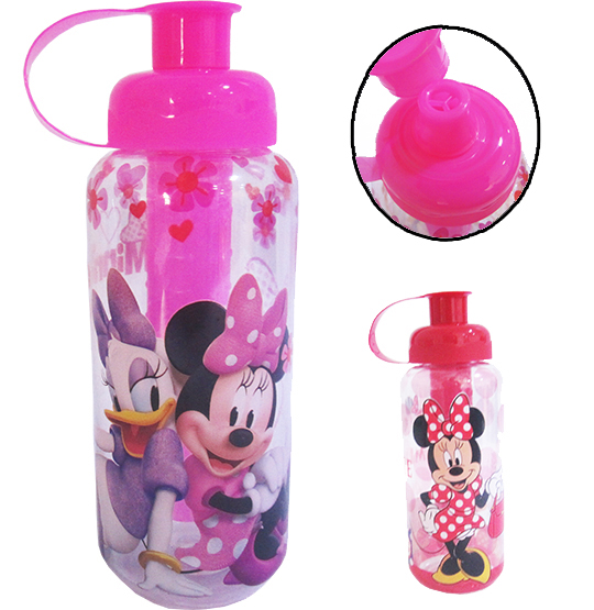 GARRAFA/SQUEEZE COM COMPARTIMENTO GELADO PET 550ML MINNIE