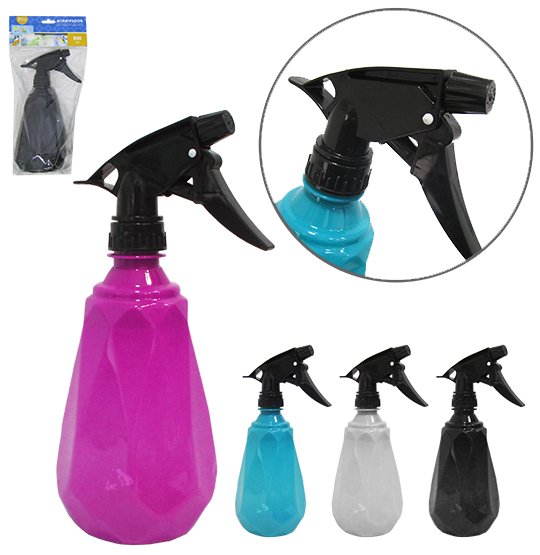 PULVERIZADOR / BORRIFADOR DE PLASTICO PET DIAMANTE COLORS 500ML NA SOLAPA