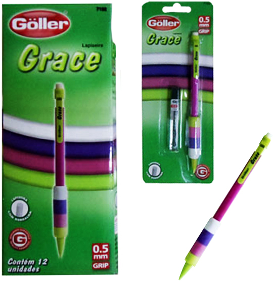 LAPISEIRA GRACE 0.5MM COM 1 TUBO DE GRAFITE CARTELA