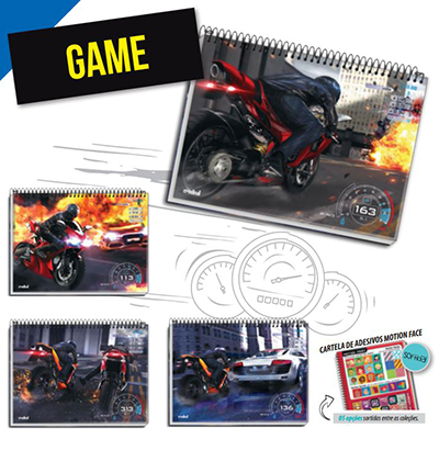 CADERNO GAME UNIVERSITARIO CAPA DURA (10X1) 200 FLS