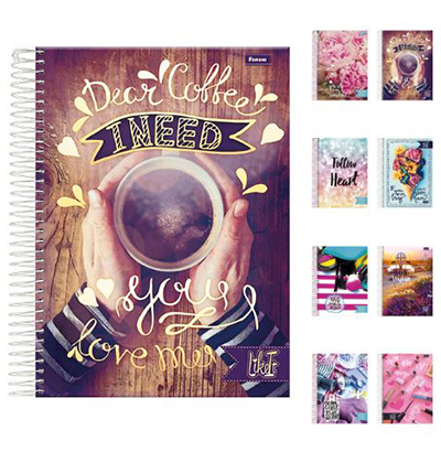 CADERNO LIKE IT UNIVERSITARIO FEMININO (1X1) 96 FOLHAS