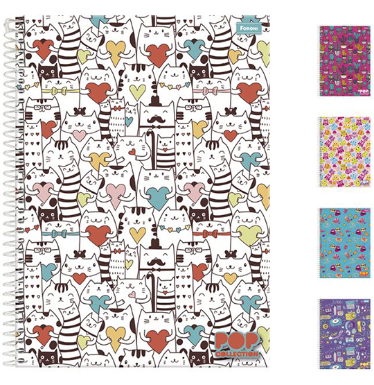 CADERNO POP COLLECTION UNIVERSITARIO FEMININO (10X1) 200 FOLHAS