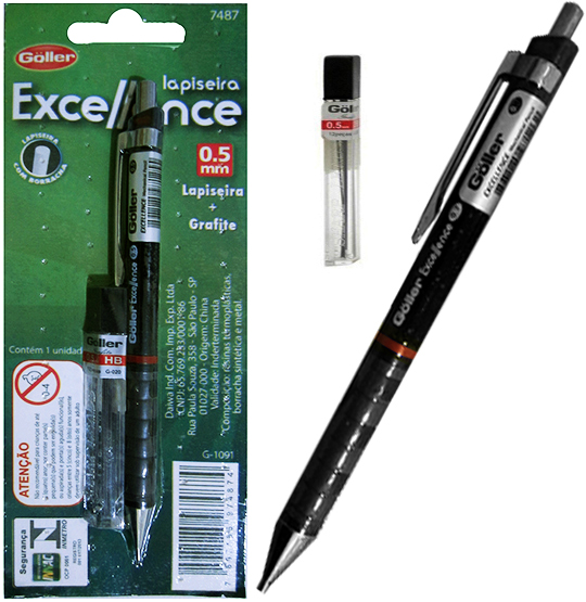 LAPISEIRA EXCELLENCE 0.5MM COM 1 TUBO DE GRAFITE CARTELA