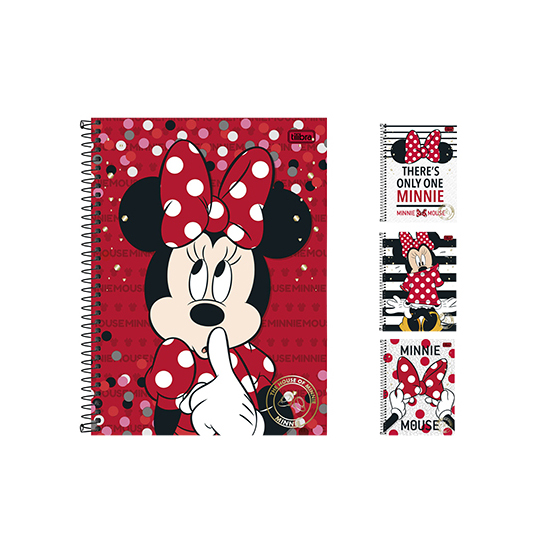 CADERNO MINNIE UNIVERSITARIO (10X1) 200 FOLHAS