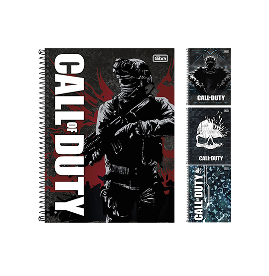 CADERNO CALL OF DUTY UNIVERSITARIO (1X1) 96 FOLHAS