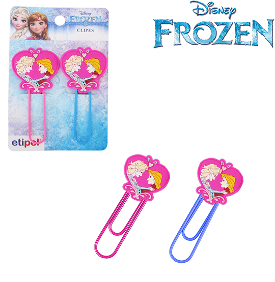 CLIPS GRANDE COLORS KIT COM 2 PECAS 9,5CM FROZEN NA CARTELA