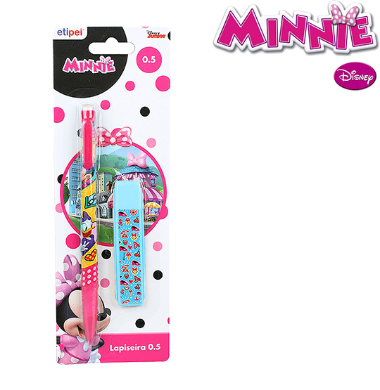 LAPISEIRA MINNIE 0.5MM COM 1 TUBO DE GRAFITE NA CARTELA