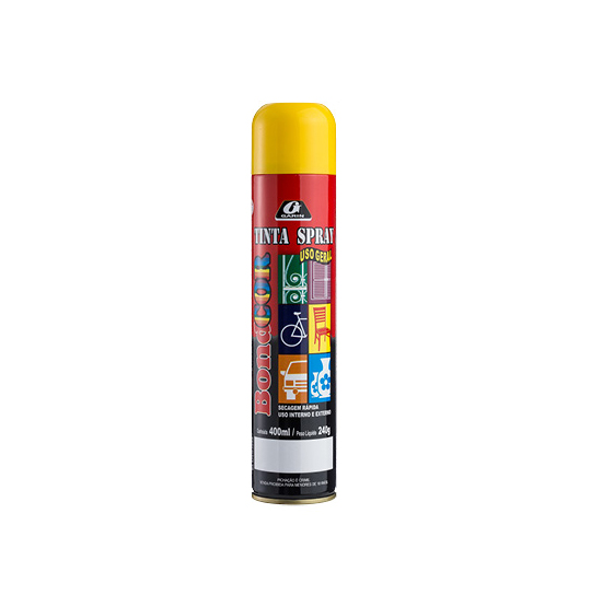 TINTA SPRAY AMARELO BONDCOR 400ML 240G
