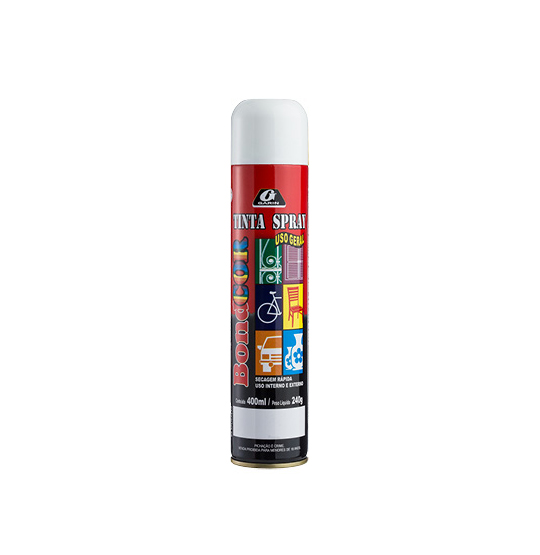 TINTA SPRAY BRANCO FOSCO BONDCOR 400ML 240G