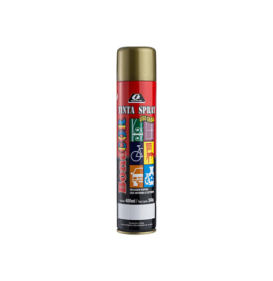 TINTA SPRAY DOURADO BONDCOR 400ML 240G