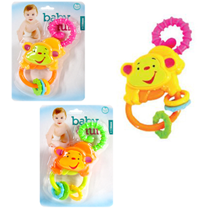 CHOCALHO BABY FUN MACACO COLORS