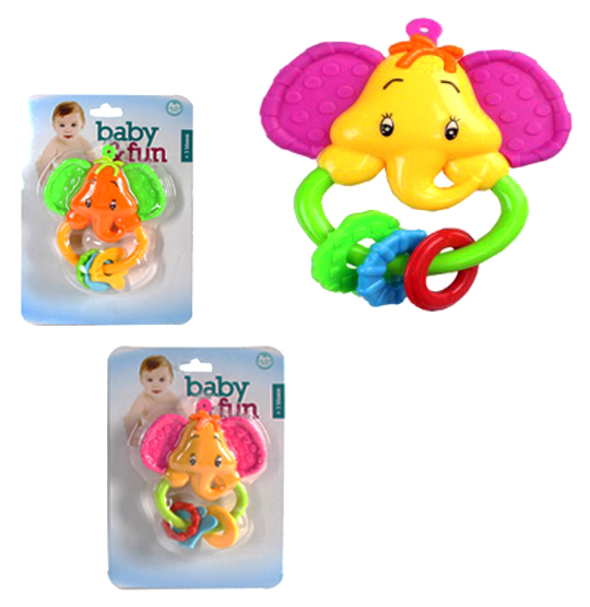 CHOCALHO BABY FUN ELEFANTE COLORS NA CARTELA
