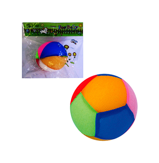 BOLA MACIA FOR BABY COLORS COM GUIZO 12CM DE Ø