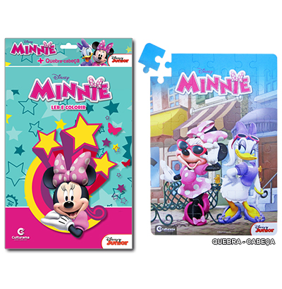 LER E COLORIR QUEBRA CABECA MINNIE A:27.5XL:20.5CM