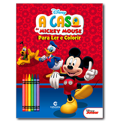 LER E COLORIR MICKEY COM 6 GIZES NO BLISTER A:28XL:21.5CM