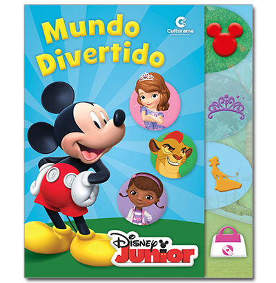 LIVRO CARTONADO RECORTADO MUNDO DIVERTIDO DISNEY JUNIOR 23,5X28CM