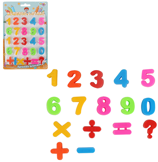 NUMEROS PEQUENO COLORS NA CARTELA WELLKIDS