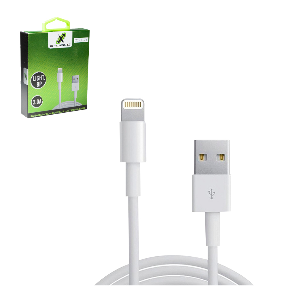 CABO PARA CELULAR LIGHT USB X IP5/6/7/8/X 2,0A X-CELL 1M