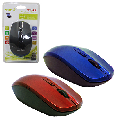 MOUSE OPTICO SEM FIO COM RECEPTOR USB COLORS
