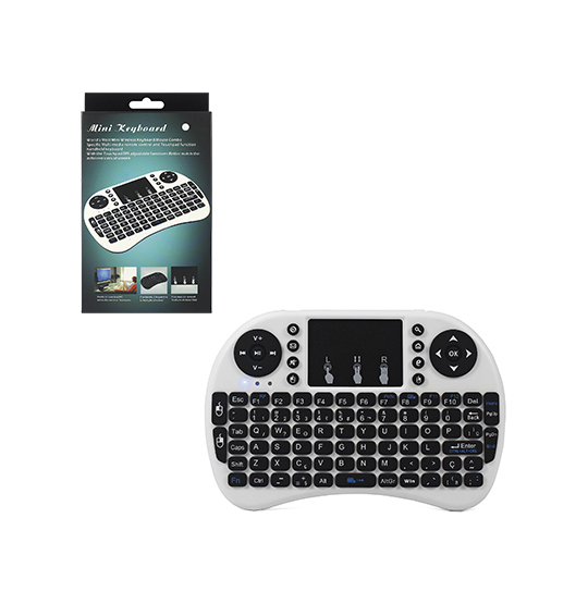 MINI TECLADO WIRELESS PARA PCS/XBOX/PS3/TV COM CARREGADOR