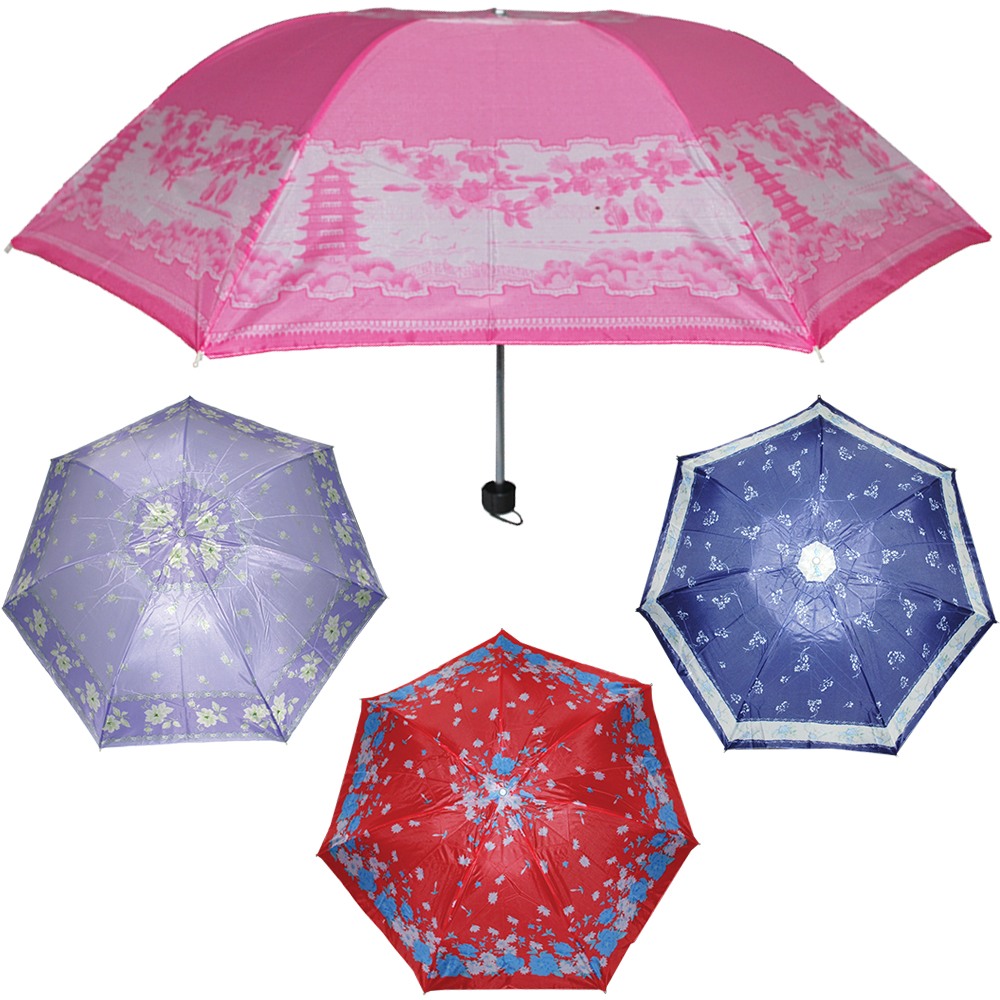 GUARDA CHUVA ESTAMPADO MANUAL CABO RETO 42CM DE Ø