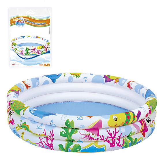 PISCINA INFLAVEL 3 ANEIS FUNDO DO MAR 180L 25X107CM DE Ø SUMMER FUN