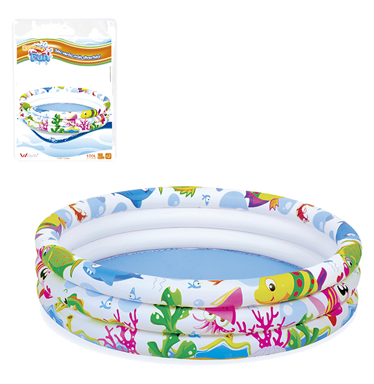 PISCINA INFLAVEL 3 ANEIS FUNDO DO MAR 100L 25X91CM DE Ø SUMMER FUN