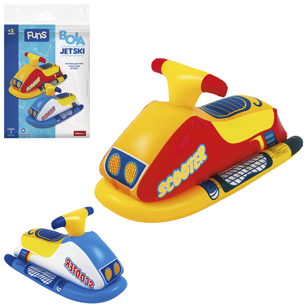 BOIA INFLAVEL MODELO JET SKI SCOOTER COLORS 91X51CM SUMMER FUN