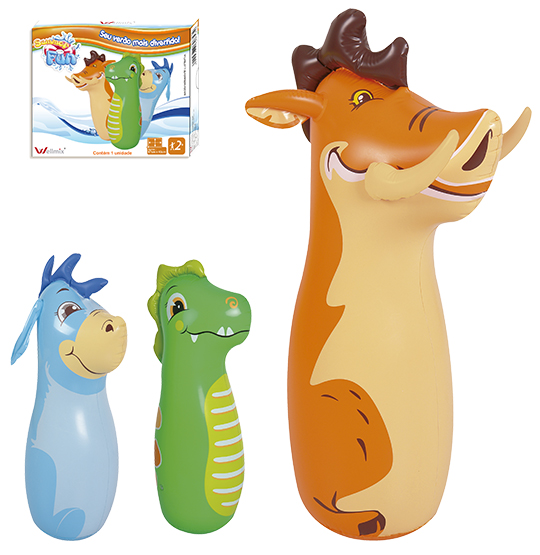 JOAO BOBO INFLAVEL 3D ANIMAIS COLORS 87X45CM SUMMER FUN