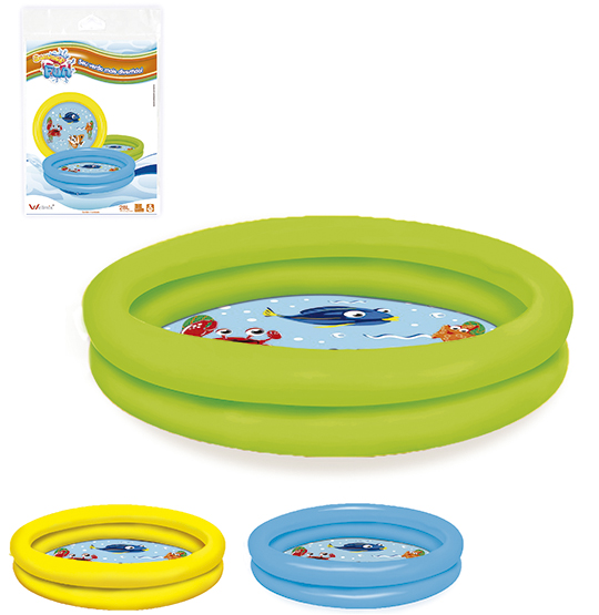 PISCINA INFLAVEL 2 ANEIS FUNDO ESTAMPADO 28L 61X12,5CM SUMMER FUN