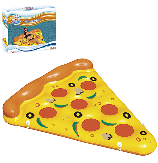COLCHAO INFLAVEL PIZZA 175X130CM SUMMER FUN NA CAIXA