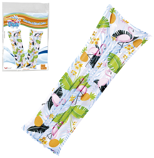 COLCHAO INFLAVEL FLAMINGO ESTAMPADO 183X69CM SUMMER FUN