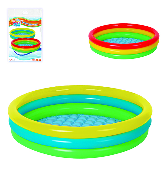 PISCINA INFLAVEL 3 ANEIS 126L COLORS 22X110CM DE Ø SUMMER FUN