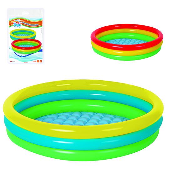 PISCINA INFLAVEL 3 ANEIS 400L COLORS 29X150CM DE Ø SUMMER FUN