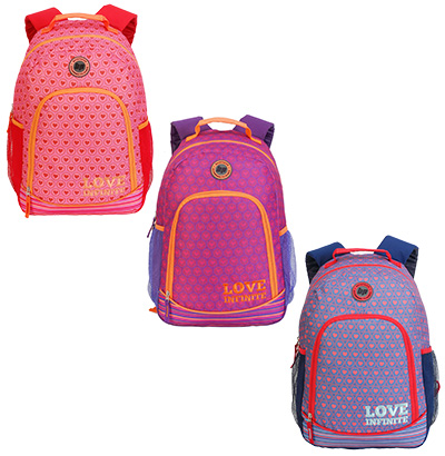 MOCHILA JUVENIL FEMININA LOVE INFINITE 18'' COLORS