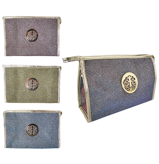 NECESSAIRE MAQUIAGEM COLOR MAGIC COM ZIPPER COLORS 23X15X7,5CM