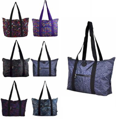 BOLSA FEMININA ESTAMPADA NOT SO BASIC COLORS 33,5X41X14CM
