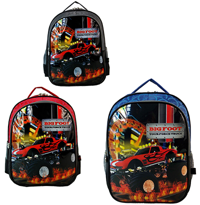 MOCHILA INFANTIL MASCULINA STANDART BIG FOOT 16'' COLORS